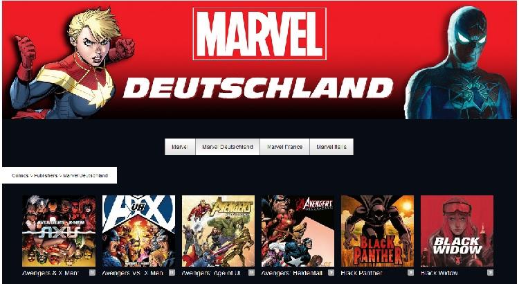 Marvel Comics auf ComiXology nun in deutscher Sprache verfügbar