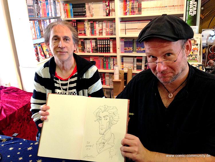 Peter und Ingo beim Signieren auf dem Comic Salon in Erlangen, 2014 (Copyright: Steffen Liebschner / comic-community.net)