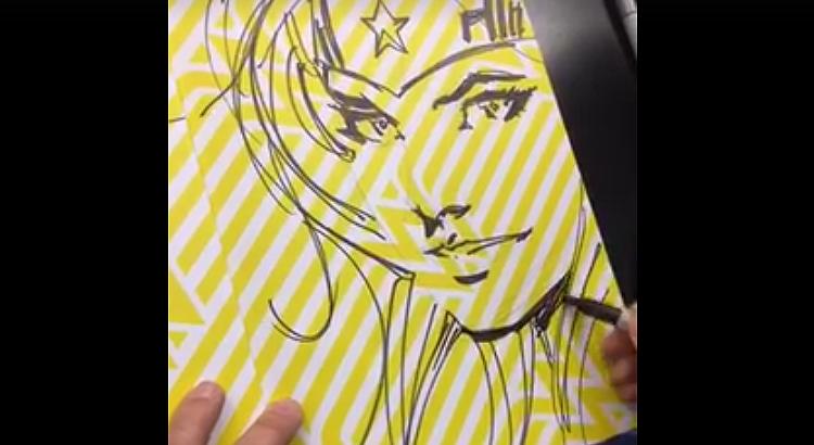 Jim Lee zeichnet Wonder Woman Sketches: live