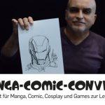 #MCC17: Mike Deodato Jr. - Live IRON MAN Sketch (Manga-Comic-Con 2017)