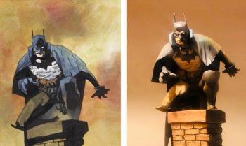 """Das üble Geschmäckle der """"Gotham by Gaslight"""" ARTFX+ Statue im Mignola Design, von der Mike Mignola nichts wusste"""