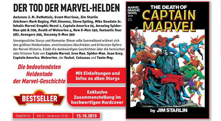 Panini Comics cancelt angekündigte DER TOD DER MARVEL-HELDEN Anthologie