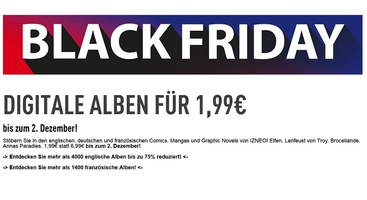 IZNEO mit digitalen Comics als Black Friday Angebote