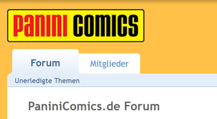 Panini Comics schließen das Panini-Forum... endgültig!
