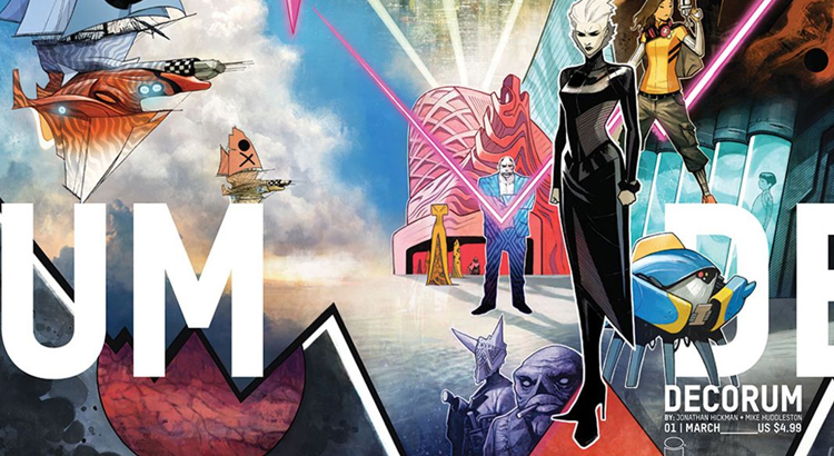 Image Comics mit Preview zu Jonathan Hickmans neuem Sci-Fi-Comic DECORUM