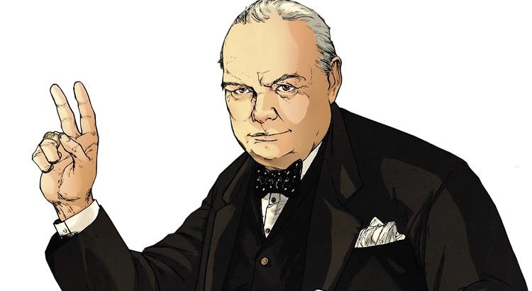 Das Leben von Winston Churchill als Graphic Novel